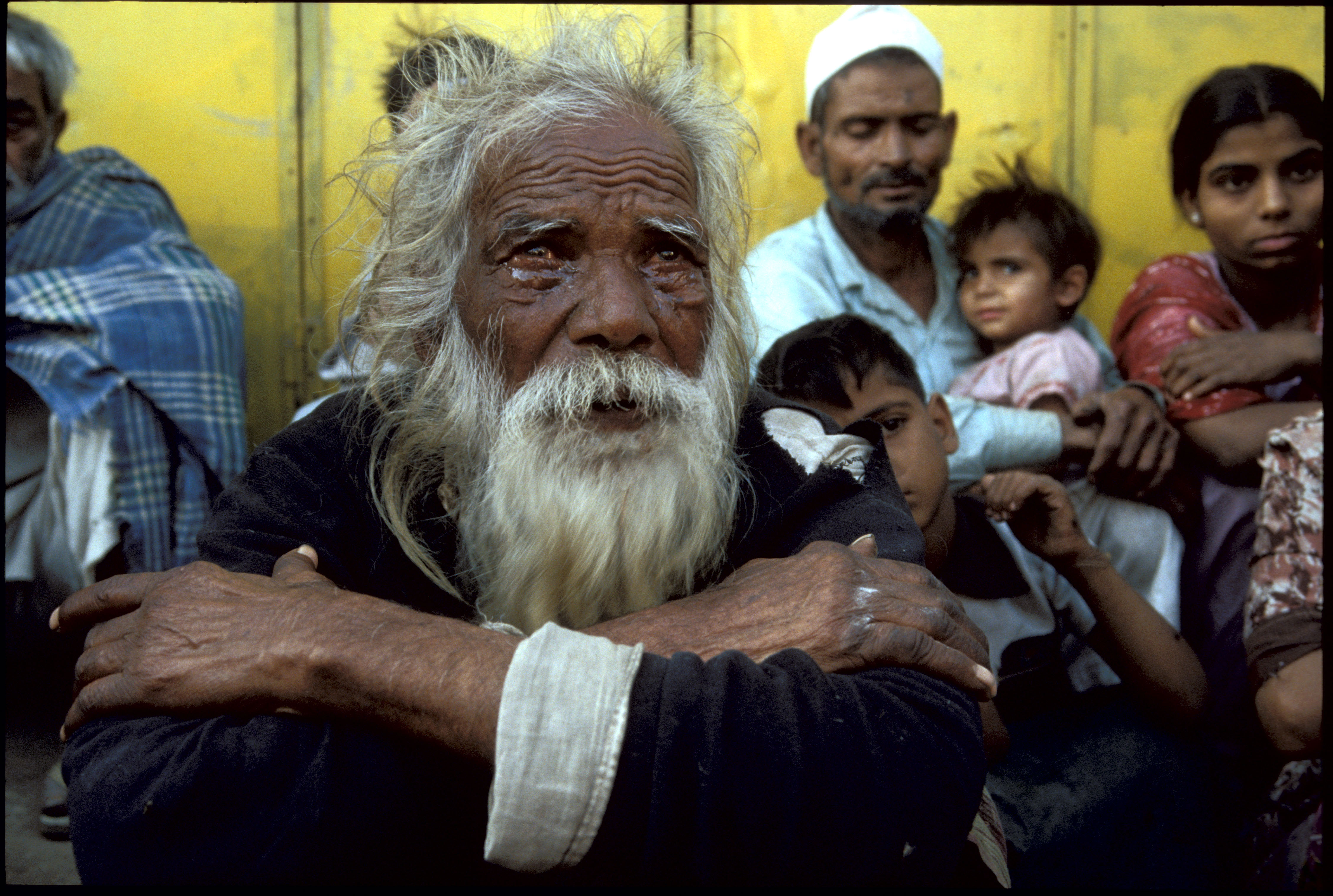 1984: Bhopal, India. Victims of Union Carbide industrial disaster.