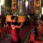 2001: Buddhist ceremony in Gandan monastery; Ulan Bator, Mongolia.