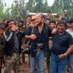 1986. With MNLF fighters in Mindanao, Philippines.