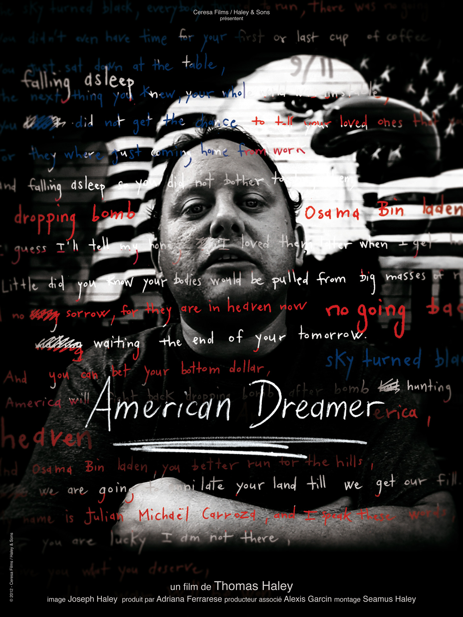 "2012: ""American Dreamer"" poster from short documentary by Haley & Sons/Ceresa Prod."