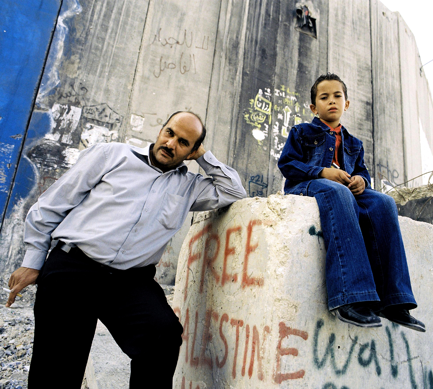 Abdullah Badir with his son, Jusef; Oct. 2007.