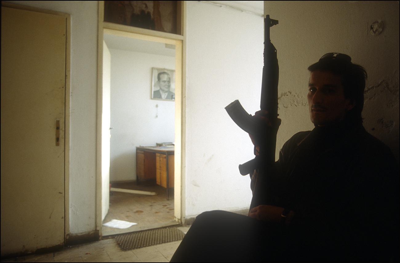 1992. Poste de combat à la périphérie de Sarajevo.