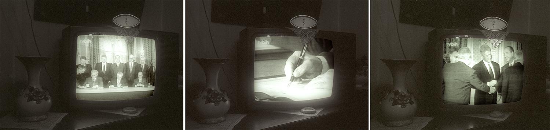 Sarajevo - la signature des accords de Dayton à la télé.