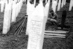 2019. Potocari, Bosnie. Enterrement des dépouilles de victimes récemment découvertes.